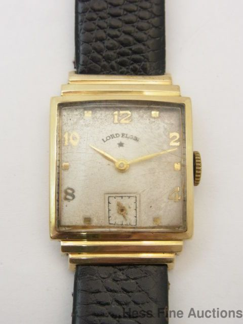 vintage very art deco lord elgin 14k gold mens wrist watch elgin vintage very art deco lord elgin 14k gold mens wrist watch elgin