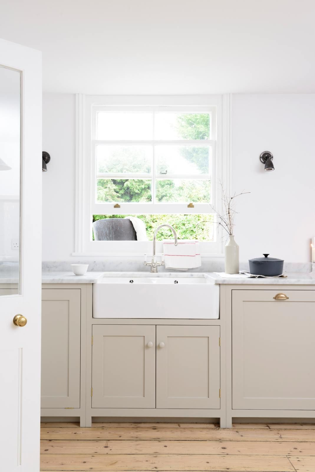 The Brighton Kitchen Devol Kitchens Taupe Kitchen Cabinets Taupe Kitchen Farmhouse Style Kitchen Cabinets