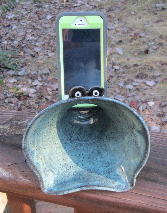 Ceramic Phone Speaker Docking Station Amplifier Cell