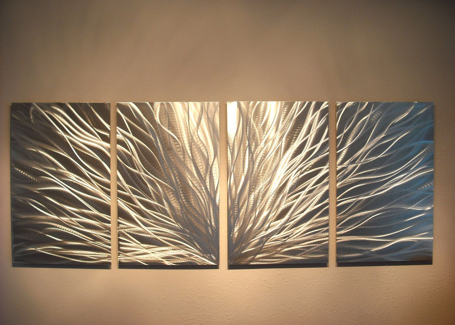 Metal Wall Hangings metal wall art decor abstract aluminum contemporary modern
