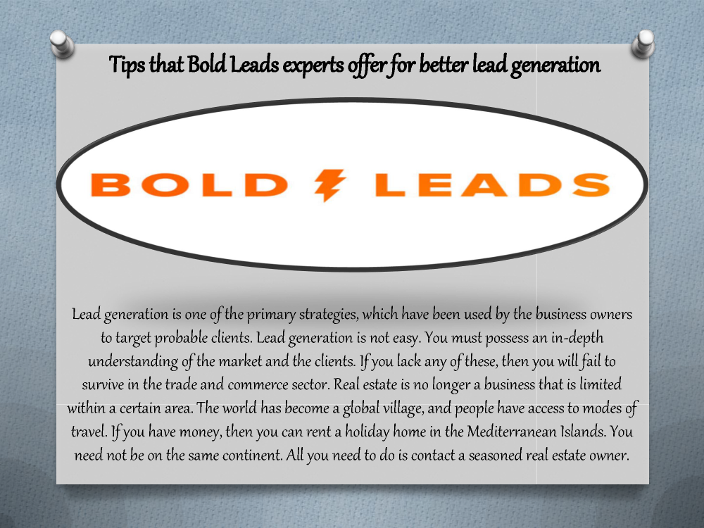 Lead generation is one of the primary strategies, which ...