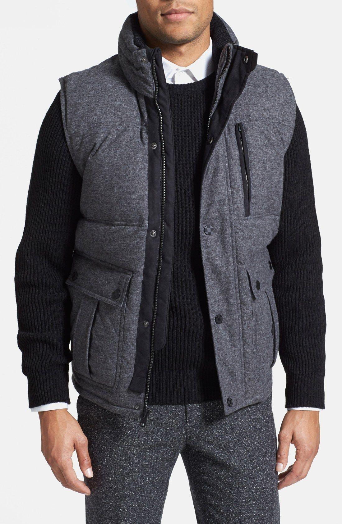 Vince Camuto Down Flannel Vest Men Casual Clothes Menswear