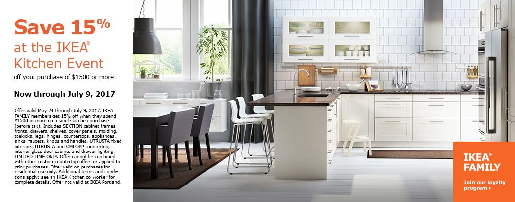 Get 15% Back At The IKEA Kitchen Event, Now Through July 9, 2017