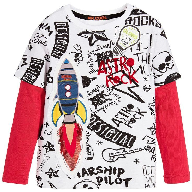 Finally There S A Way For Your Child To Wear Their Support For Space Travel Desigual Boys White Red Cotton To Ropa Para Niñas Polos Niños Pijamas Para Niñas
