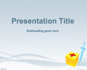 first aid powerpoint template ~ free | slide designs | pinterest, Powerpoint templates