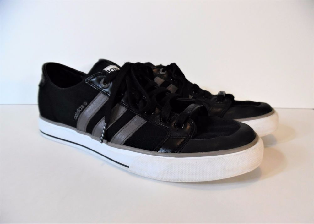 Adidas David Beckham VGC Black Canvas Leather Gray Stripe Men s Size US 9.5  RARE  Adidas  AthleticSneakers 82112e9b8