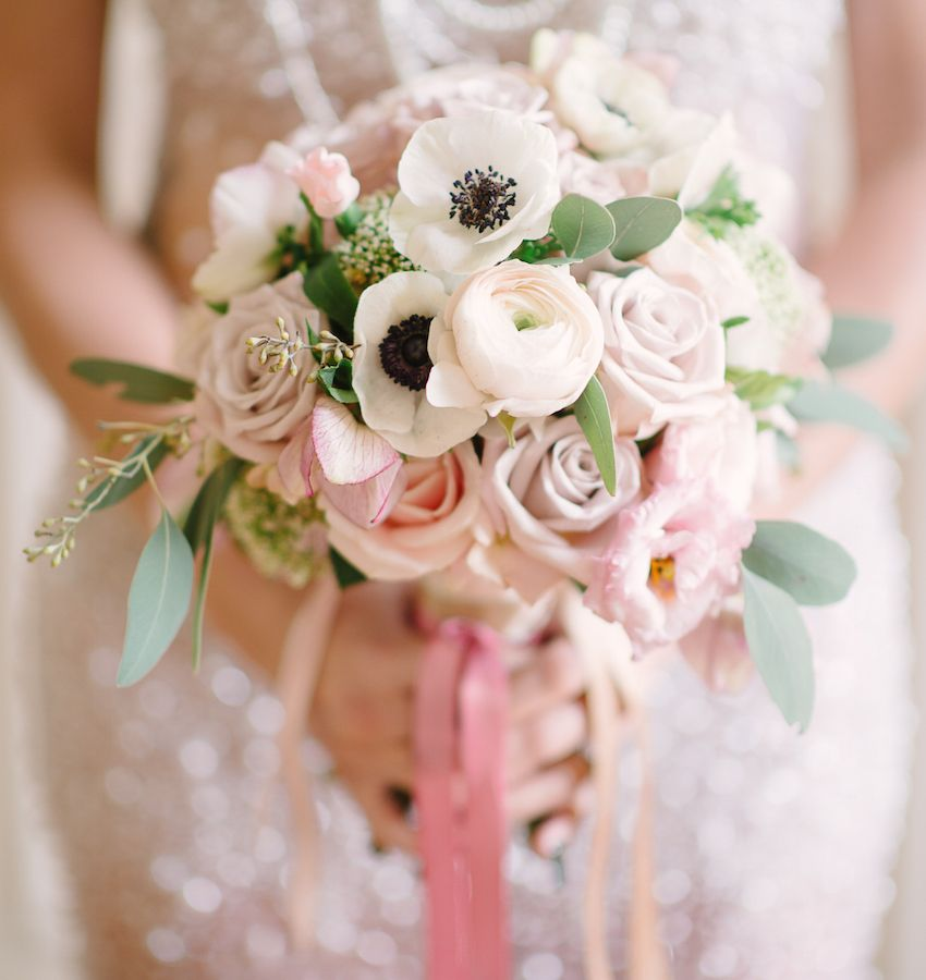 Wedding Trend Using Anemone Flowers In Decor Wedding Flowers Anemone Bouquet Blush Bouquet Wedding