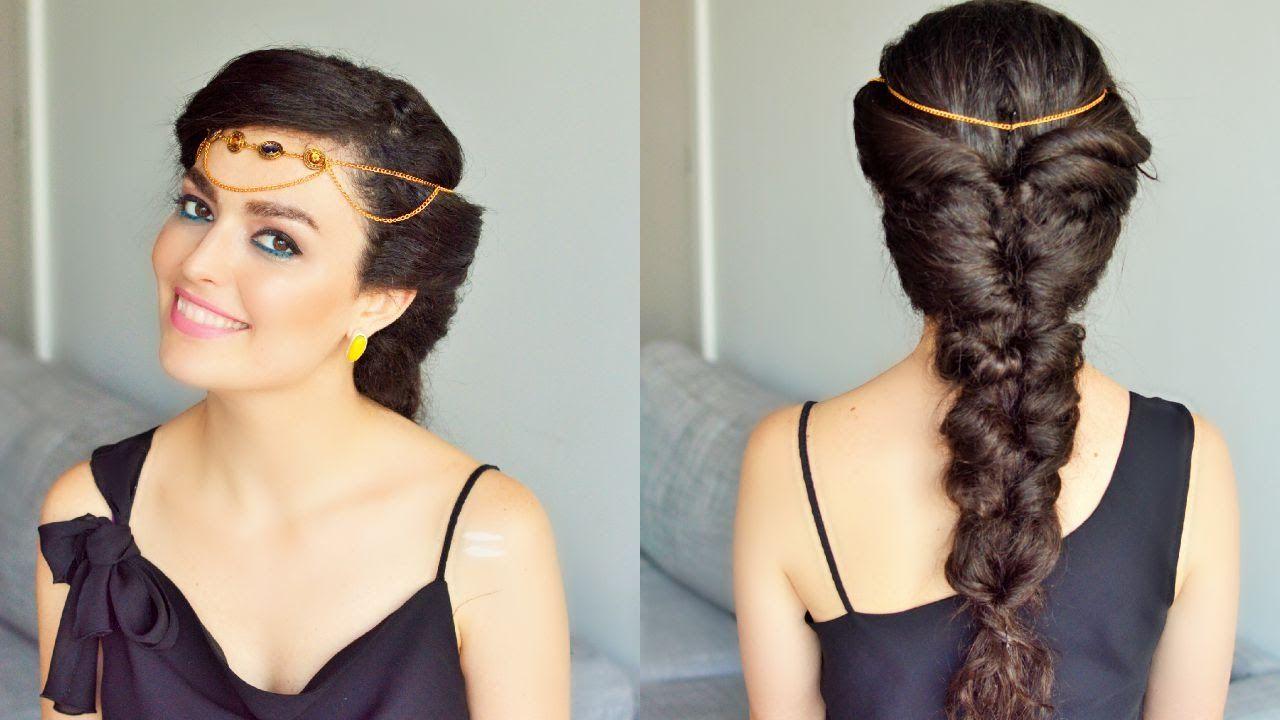 Fake Fishtail Braid Princess Jasmine Hairstyle Braids For Long Hair Jasmine Hair Princess Jasmine Hair