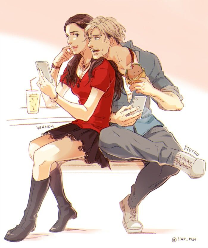 brother and sister // Pietro and Wanda Maximoff // | cool