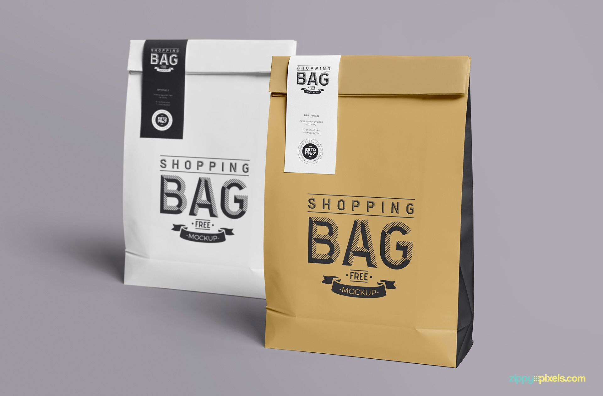 Download Free Awesome Paper Bag Mock Up Zippypixels Bag Mockup Paper Bag Free Mockup