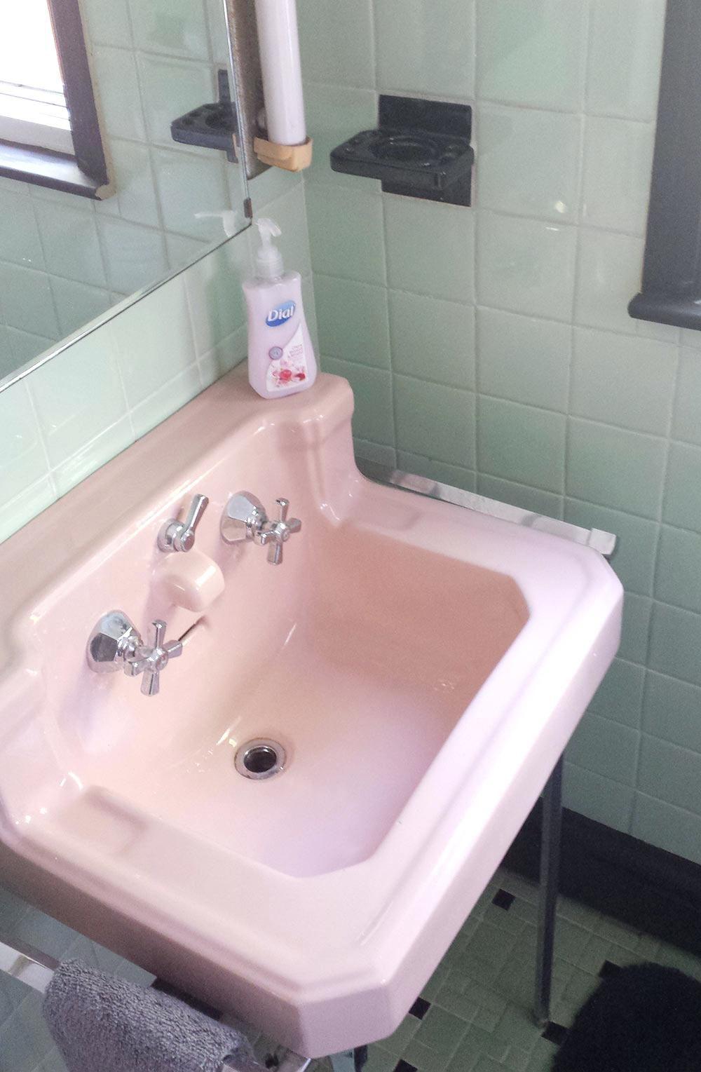 Bathroom Sink 1950s Bathroom Sink Vintage Green Black And Pink
