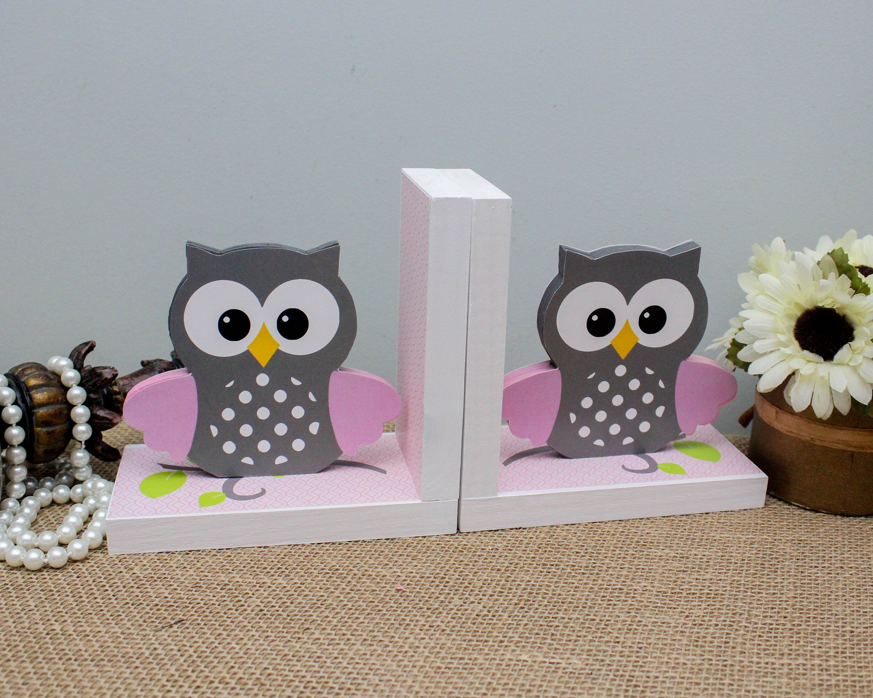 Baby Owl Bookends Woodland Nursery Decoration Baby Shower Gift