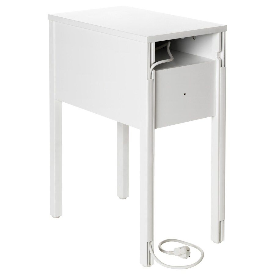 Nordli Table De Chevet Blanc Ikea En 2020 Chevet Blanc Petite Table De Chevet Table De Chevet