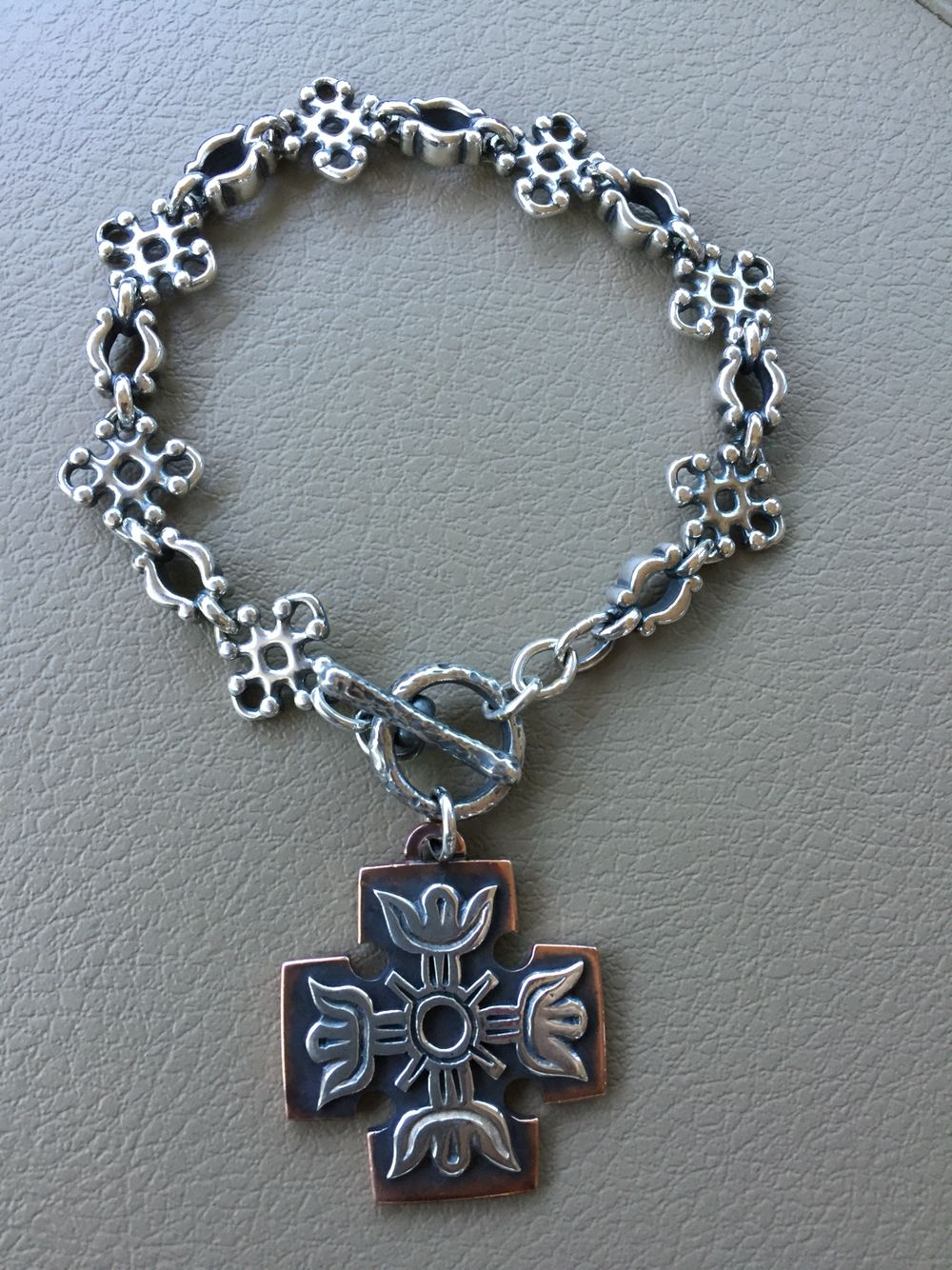 Custom James Avery bracelet. Very vintage sterling & coped ...