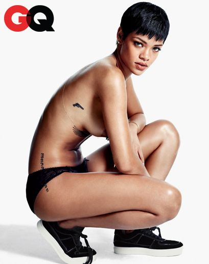 Rihanna nude gq thank