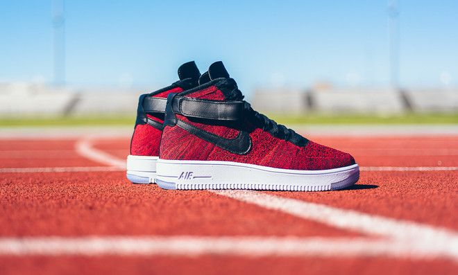 huge discount 6defb 79015 Nike Air Force 1 Ultra Flyknit Mid University Red