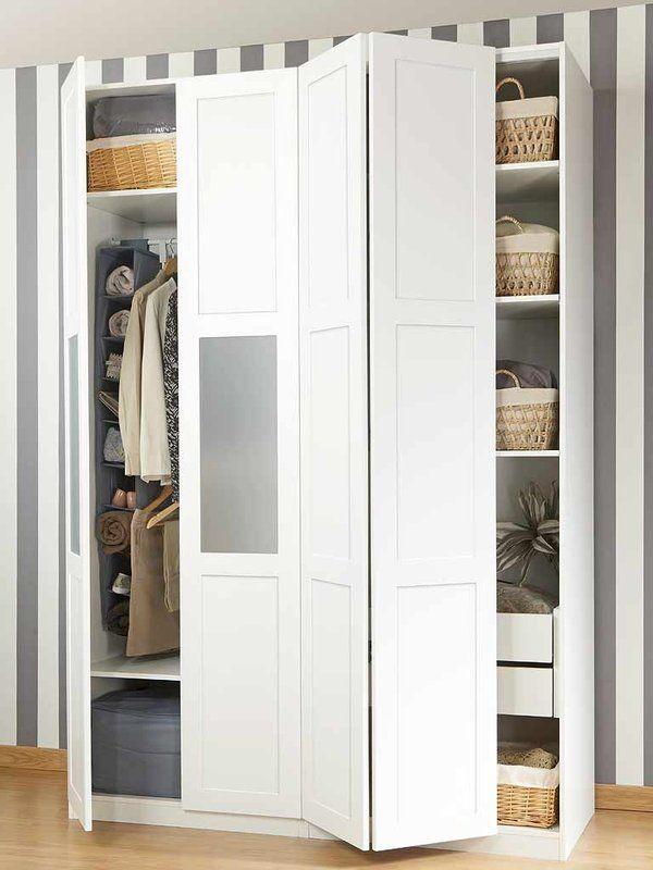 Armarios roperos para el dormitorio decoraci n - Armario puertas plegables ...