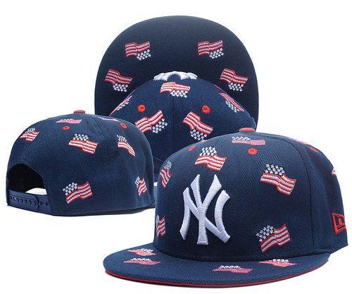 New York Yankees USA Flag Navy Snapback Hats 2539cc25f703