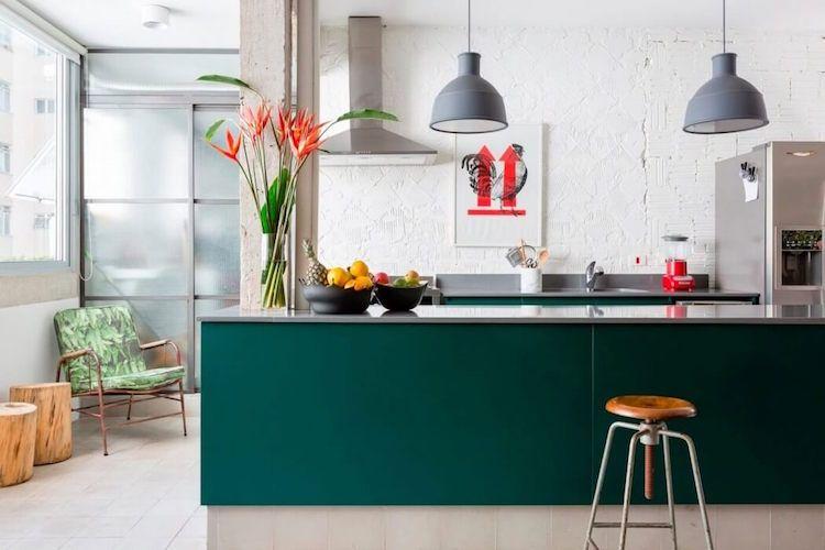 Cuisine verte \u2013 conjuguer l\u0027harmonie et l\u0027énergie des différentes - cuisine verte et blanche