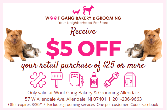 Go on Facebook and print out this coupon. Valid only at
