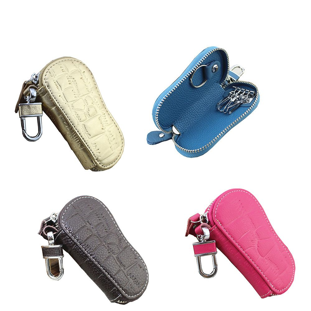 Car Key Holder Leather Keys Hanging Purse Wallet Housekeeper Electronic Case Car Key Holder Leather Car Key Holder Hanging Purses