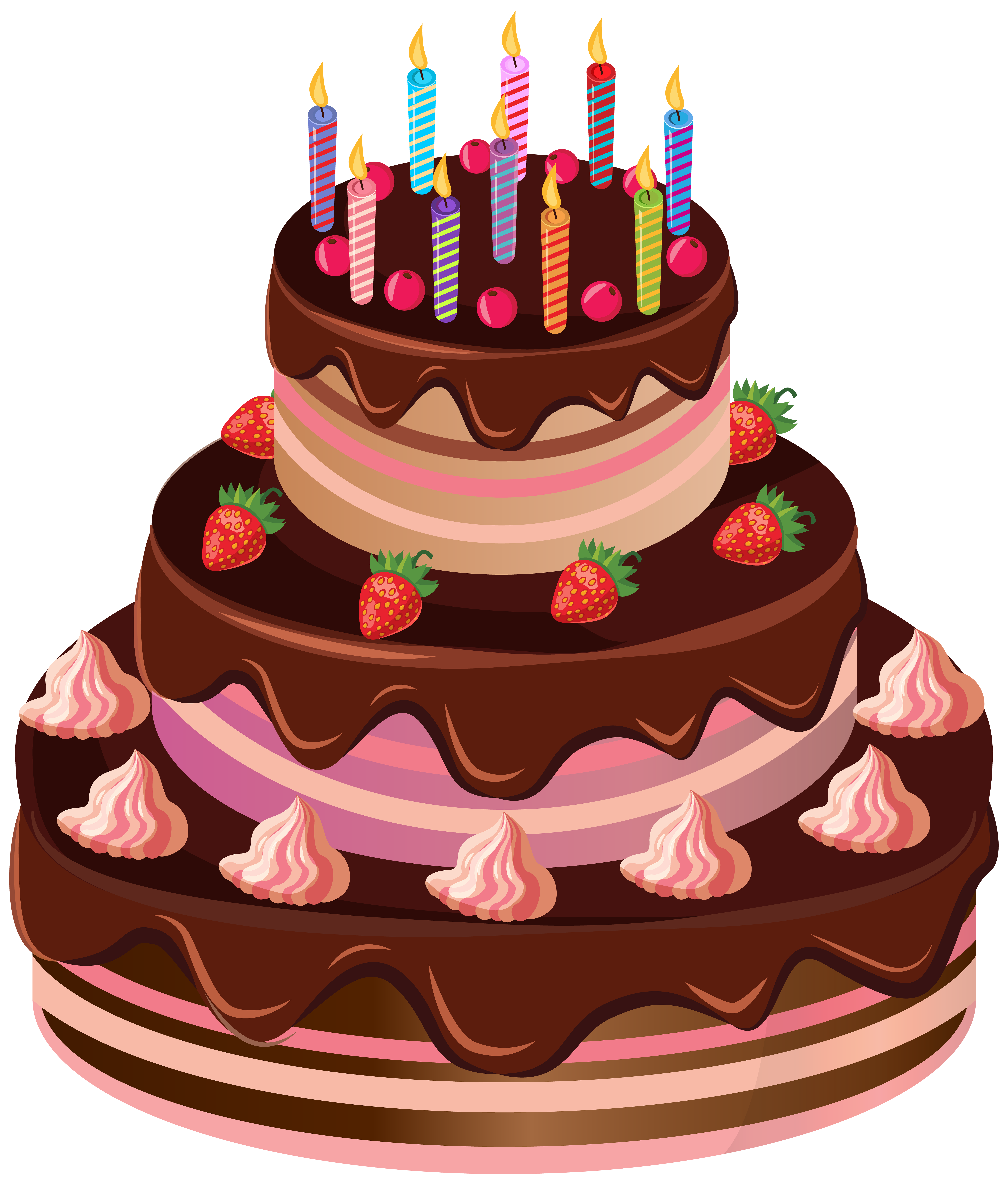 Amazing Birthday Cake Png Clip Art Image Anniversaire Gateau Dessin Personalised Birthday Cards Bromeletsinfo