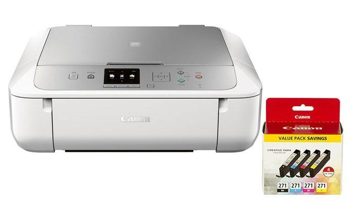 Canon Pixma Wireless Inkjet All In One Printer With Ink Bundles Printer Inkjet Wireless