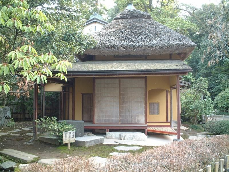 A Japanese Tea House Which Reflects The Wabi Sabi Aesthetic In Kenroku En  Garden.