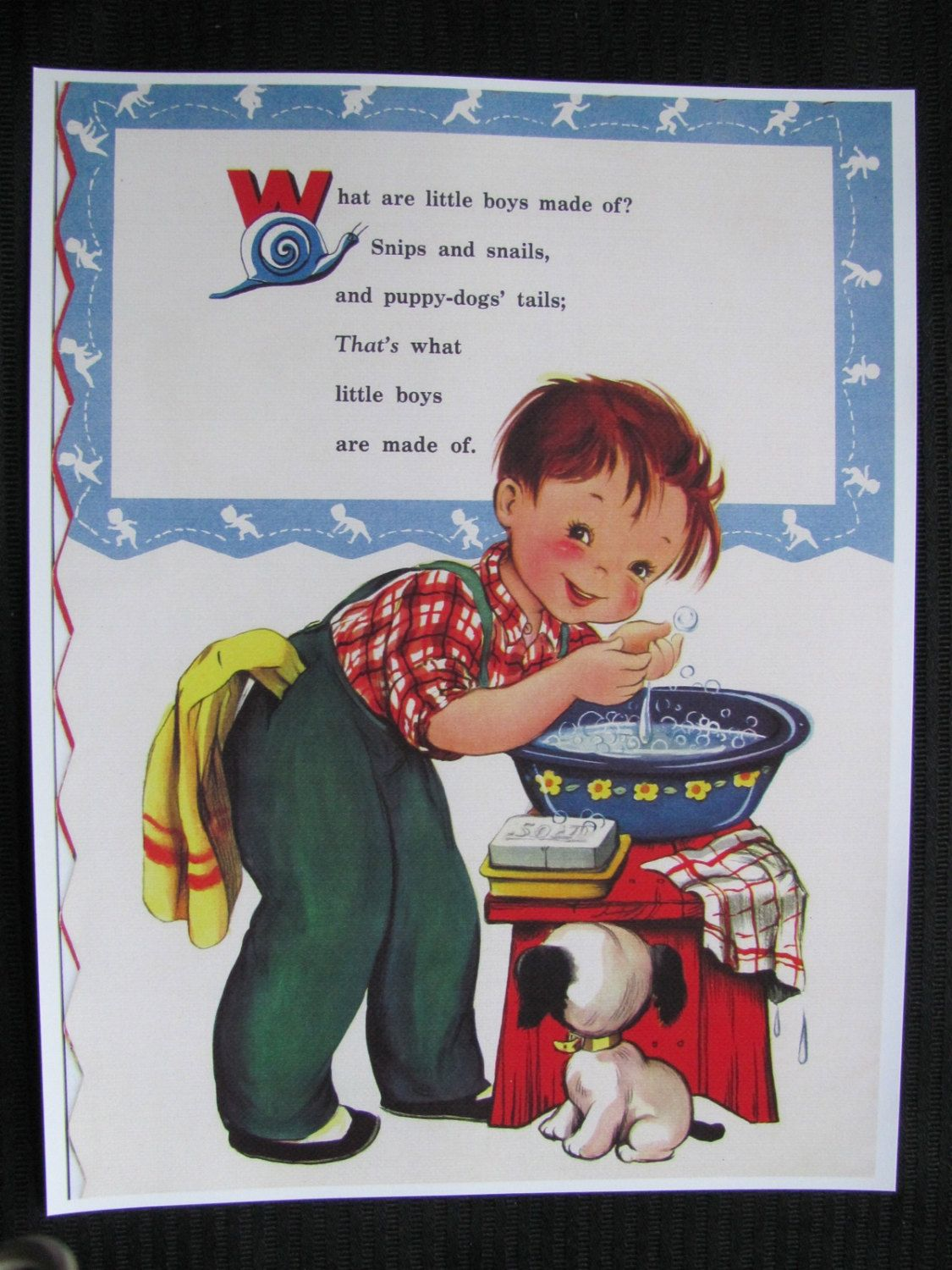 Childrens Ilrated Nursery Rhyme What Are Little Boys Made Of