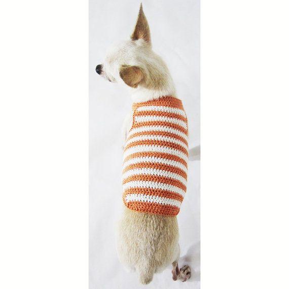 Rustic Dog Tank Top, Cotton Puppy Clothes, Handmade Crochet Pet ...