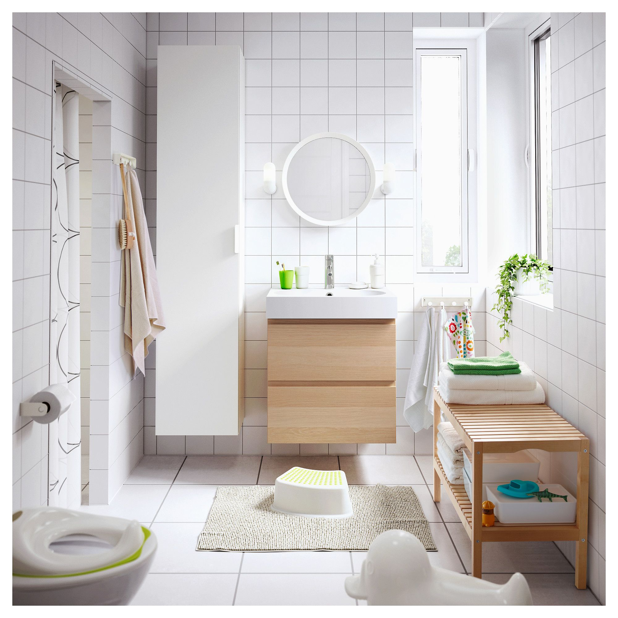 IKEA LANGESUND Mirror white Bathroom furniture