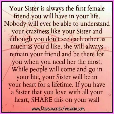 To my little sister