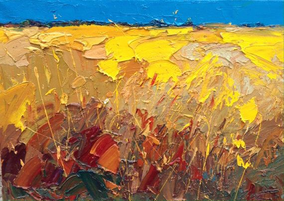 Cornfield Abstract Original Art Landscapes Painting on Canvas, Cornfield Painting, Abstract Landscape, Canvas Art, Original Painting by AgostinoVeroni on Etsy https://www.etsy.com/listing/246658928/cornfield-abstract-original-art