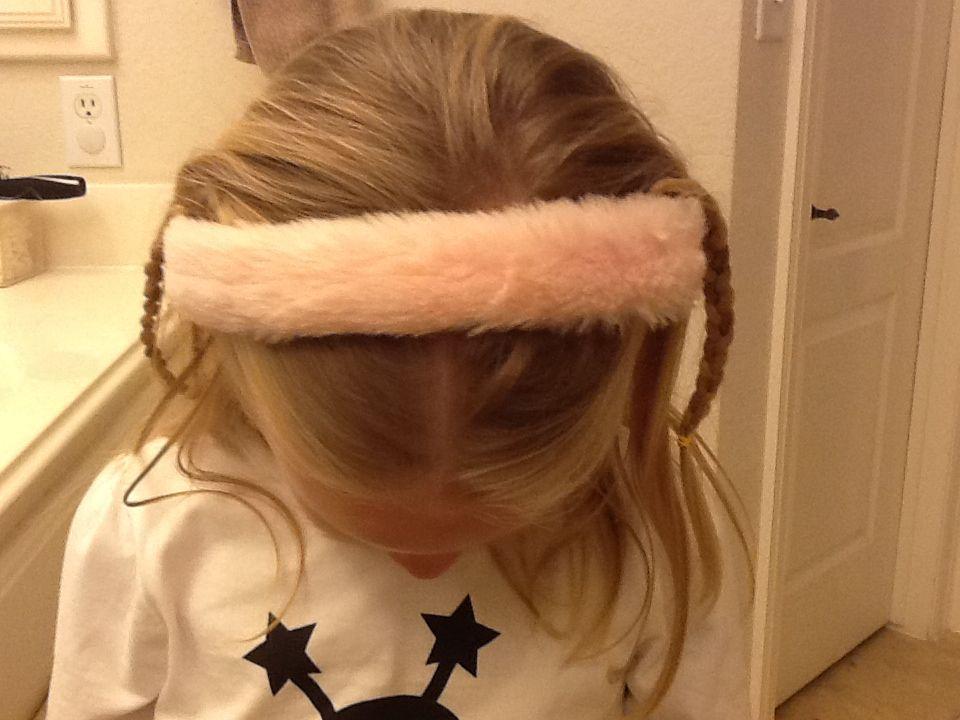 Perfect fluffy winter headband! Stay cozy!