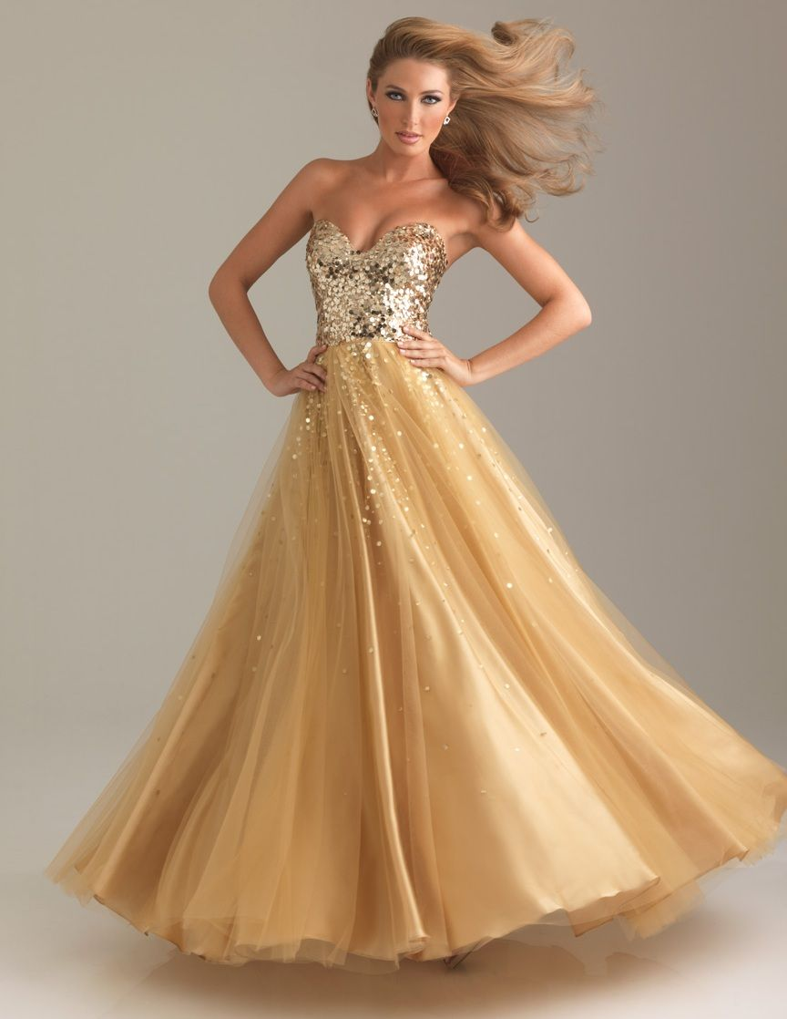 Night Moves by Allure Prom Dress Style 6499 available in Gold ...