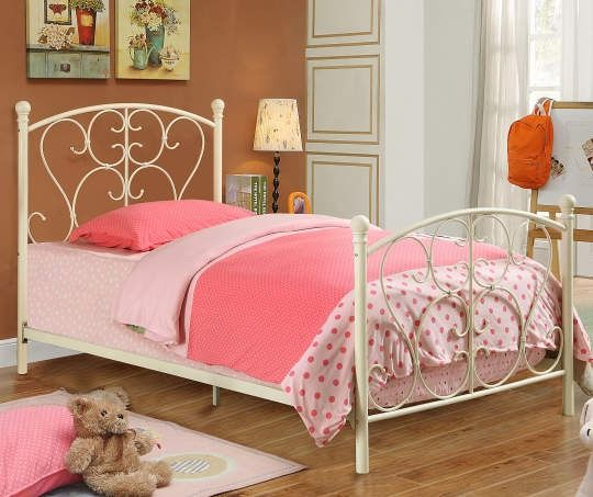 This Twin Scroll Metal Bed from Big Lots is the perfect ...
