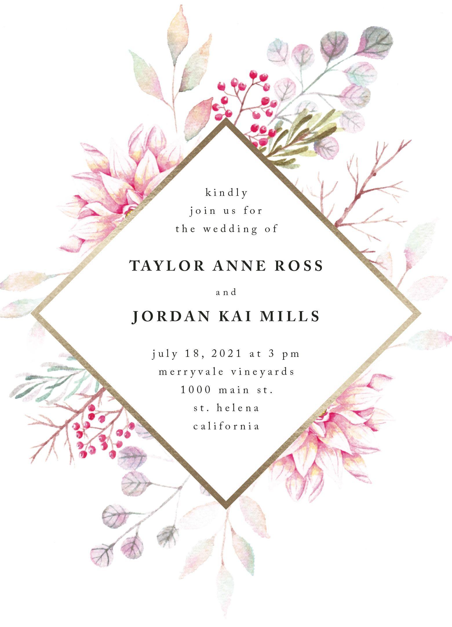 Ascent Foil Pressed Wedding Invitation Design By Minted