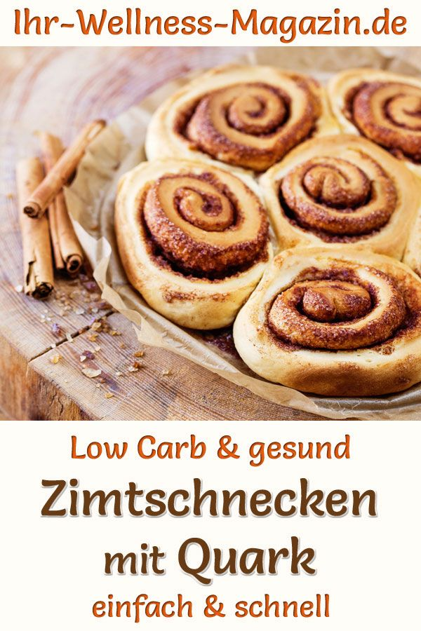 Photo of Low carb cinnamon buns with curd cheese – healthy recipe for breakfast
