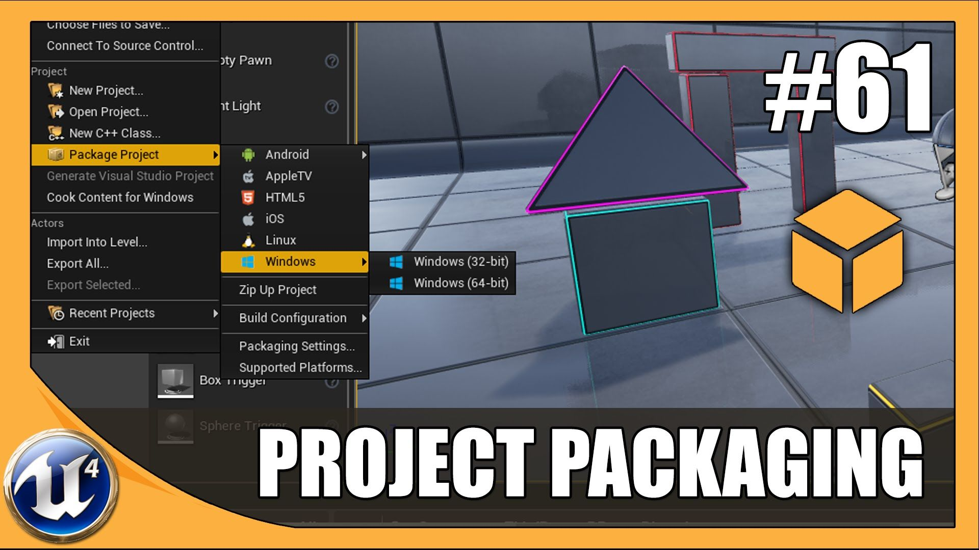 Packaging Our Project - #61 Unreal Engine 4 Beginner