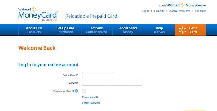 Walmart Money Card Login - WalmartMoneyCard.com | Money cards, Purchase  card, Cards