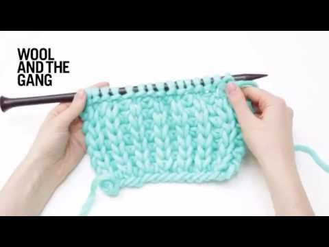 How to Knit the Mock Fisherman\'s Rib Stitch (YouTube). Demo\'d on ...