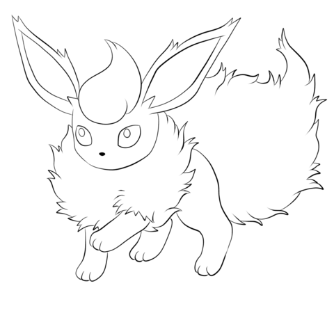 Flareon Coloring Page