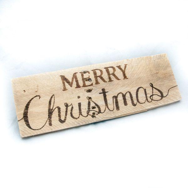 Merry Christmas Sign Reclaimed Wood Holiday Decor Seasonal Decor ...