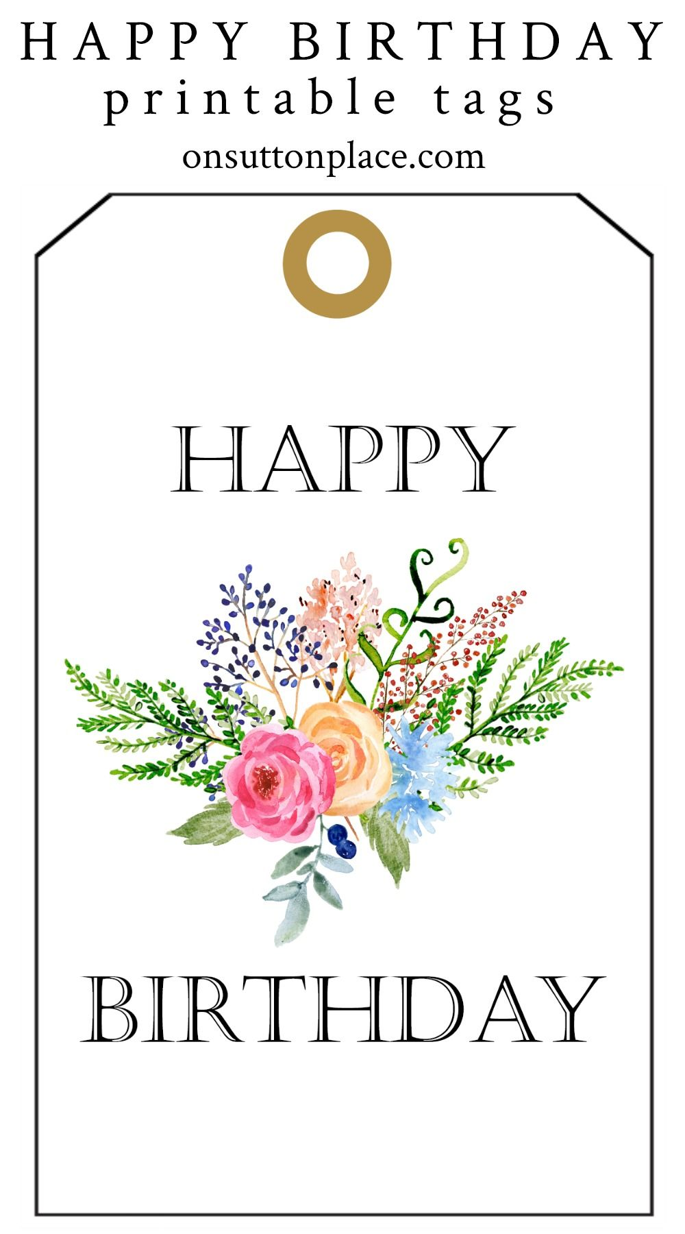 Happy Birthday Free Printable Gift Tags