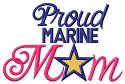 Proud Marine Mom (HOG675T5_VAR_3) Embroidery Design by Grand Slam Designs