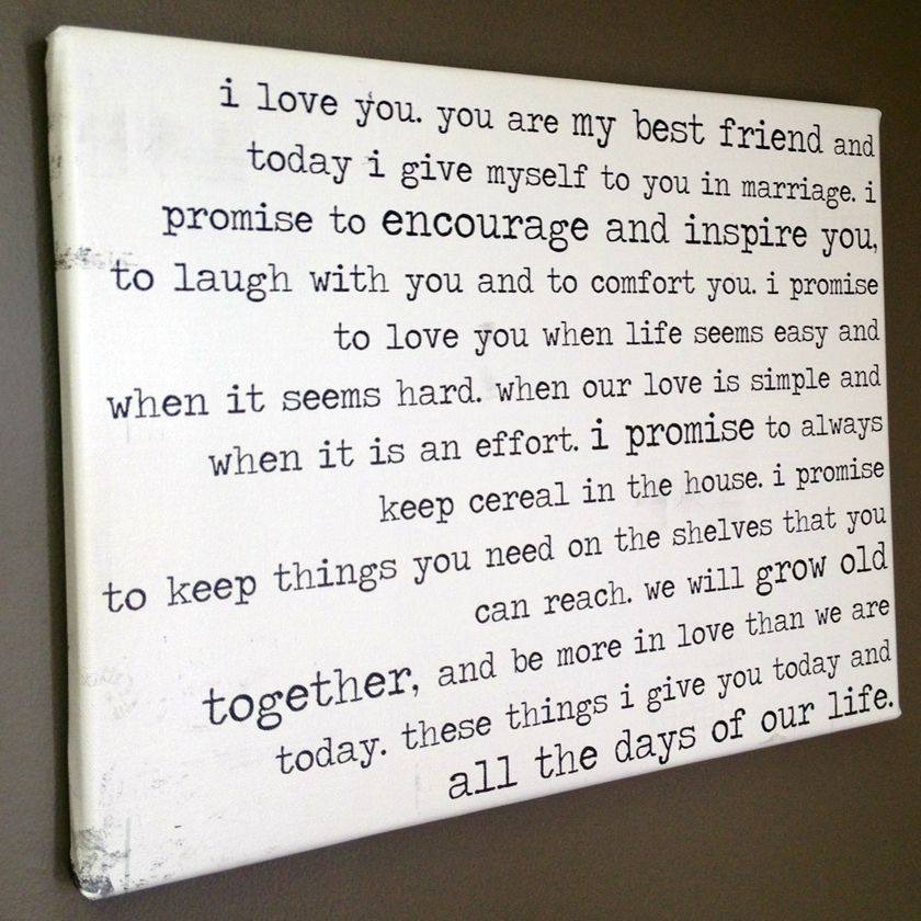 funny vows on canvas by Geezees customize yours with this site ...