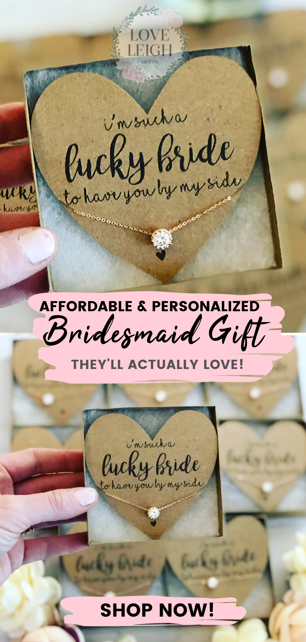 Bridesmaid Gift Idea / Bridal Party Ideas / Affordable and Personalized Bridesmaid Gifts / Jewelry
