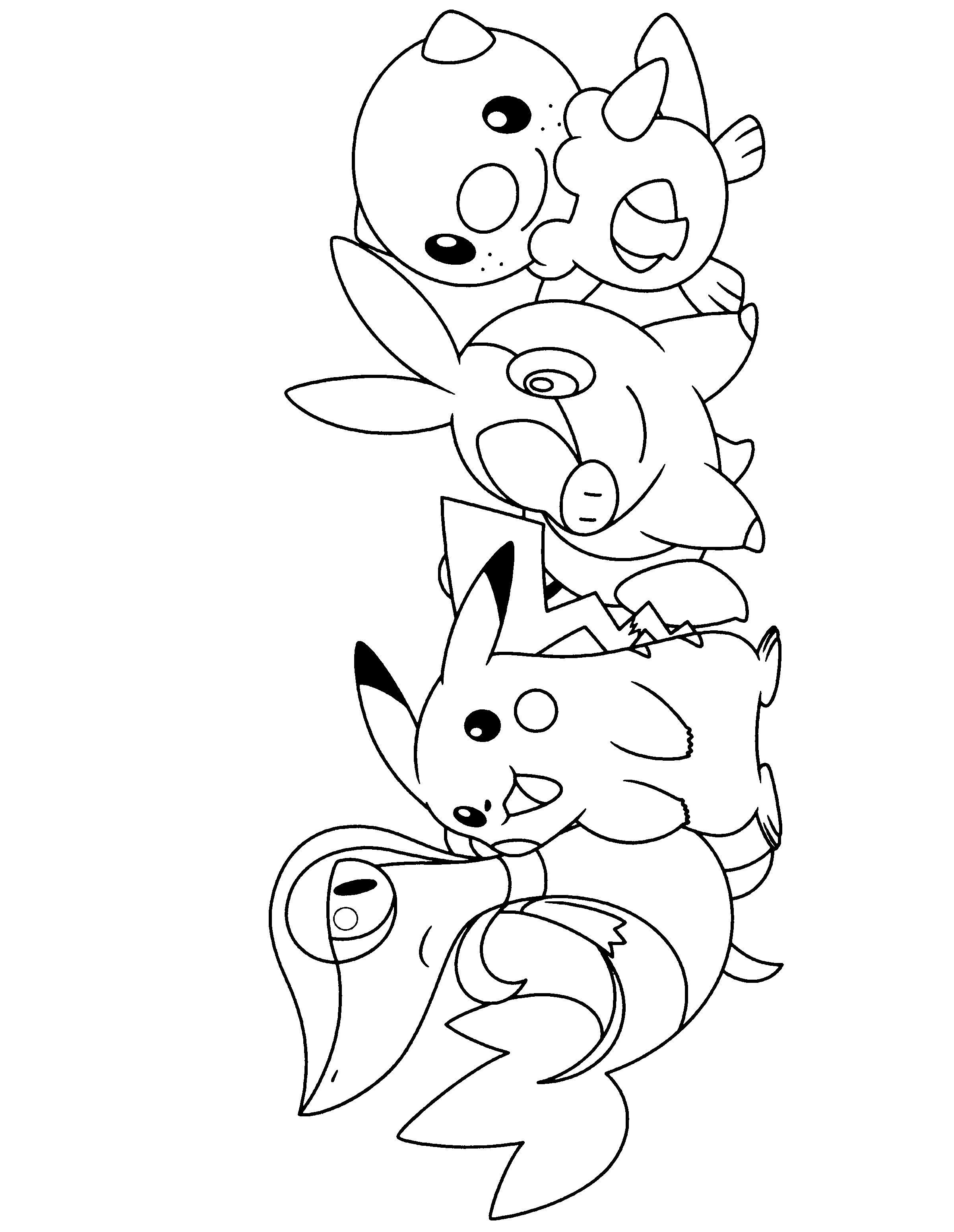 Coloring Pokemon Black And White Pokemon Coloring Pages Pokemon