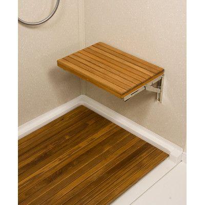 Teakworks4u Teak Wall Mount Fold Down Shower Bench/Seat | Shower ...