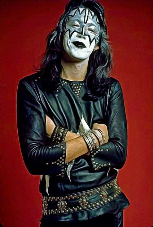 Nice Painting Of A Young Ace 1973 Ace Frehley Kiss Images